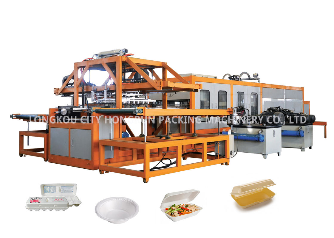 Mechanical Arm PS Foam Disposable Take Away Food Lunch Box Making Machine